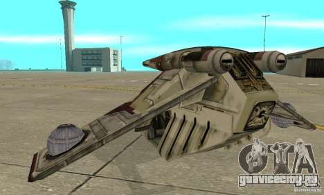 Republic Gunship из Star Wars для GTA San Andreas вид сзади слева