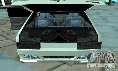 ВАЗ 2114 Tuning для GTA San Andreas вид сзади