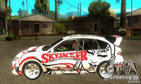 Subaru Impreza WRX STi Skyjacker из DiRT 2 для GTA San Andreas вид слева