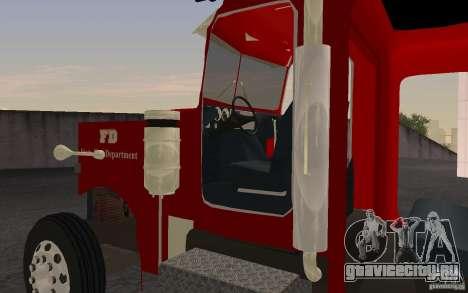 Peterbilt 379 Fire Truck ver.1.0 для GTA San Andreas вид слева