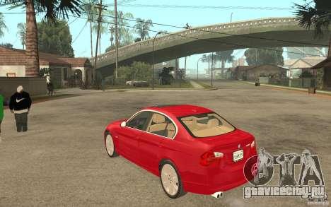 BMW 330i E90 v.2.0 для GTA San Andreas вид сзади слева