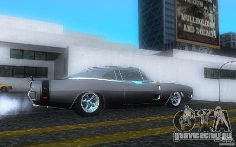 Dodge Charger RT 69 для GTA San Andreas вид справа