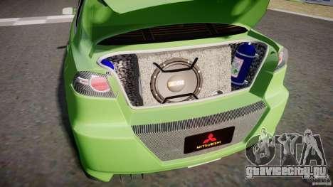 Mitsubishi Lancer Evolution X Tuning для GTA 4 вид изнутри