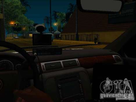 Chevrolet Tahoe Texas Highway Patrol для GTA San Andreas вид изнутри