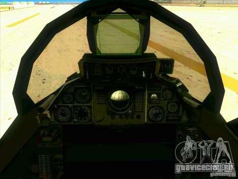 F-14 Tomcat Razgriz для GTA San Andreas вид сбоку