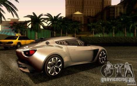Aston Martin Zagato V12 V1.0 для GTA San Andreas вид сзади слева