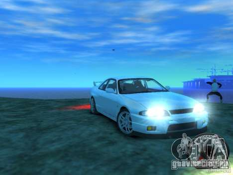 Nissan Skyline GT-R V-Spec (R33) 1997 для GTA 4 вид сзади