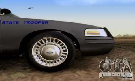 Ford Crown Victoria Kentucky Police для GTA San Andreas вид справа