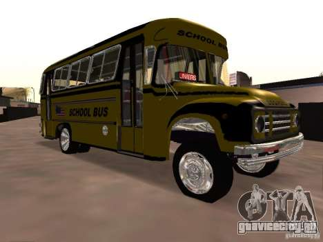 Bedford School Bus для GTA San Andreas вид изнутри