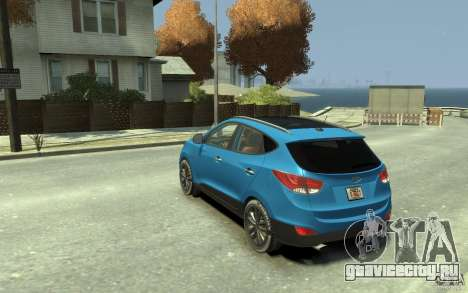 Hyundai IX35 2010 Beta для GTA 4 вид сзади слева
