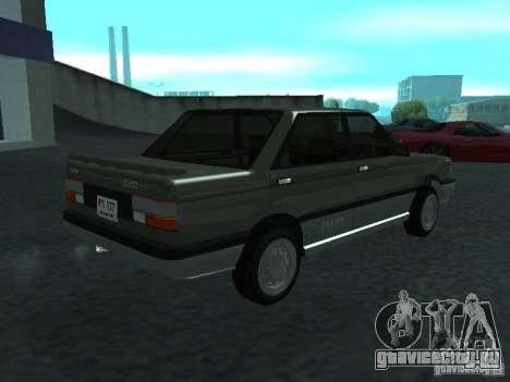 Nissan Sanny 1500 (B12) для GTA San Andreas вид сзади слева