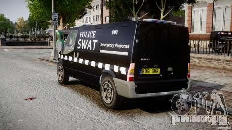 Ford Transit SWAT [ELS] для GTA 4 вид сзади слева