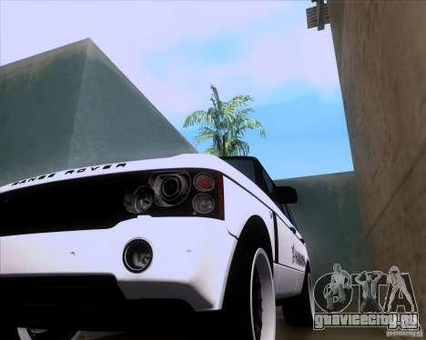 Range Rover Hamann Edition для GTA San Andreas вид сзади