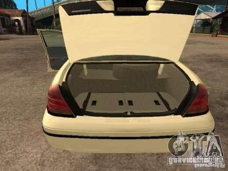 Ford Crown Victoria 2003 Police для GTA San Andreas вид сзади