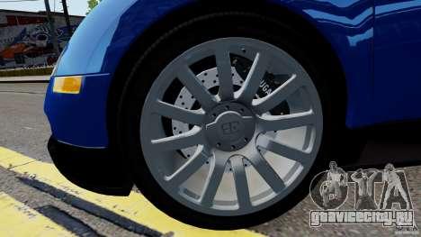 Bugatti Veyron 16.4 v1.0 wheel 2 для GTA 4 вид сзади