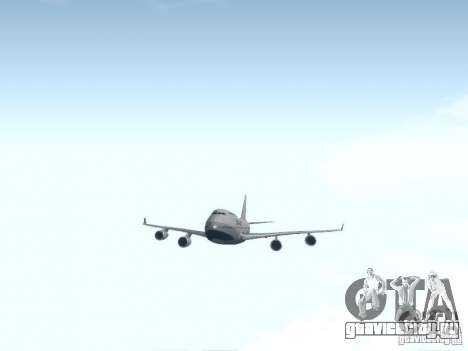 Boeing 747-400 China Airlines для GTA San Andreas вид изнутри