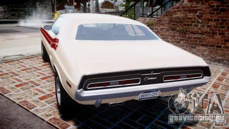 Dodge Challenger 1971 RT для GTA 4 вид сзади слева