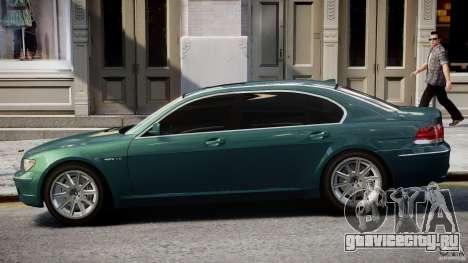 BMW 7 Series E66 для GTA 4 вид сбоку