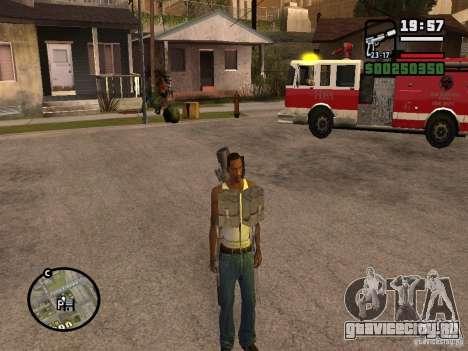 Оружие за спиной для GTA San Andreas второй скриншот