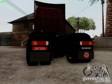 Scania R580 V8 Topline для GTA San Andreas вид сзади