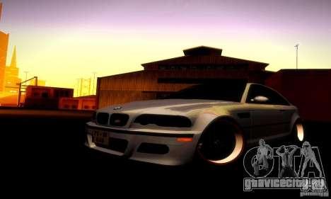 BMW M3 JDM Tuning для GTA San Andreas вид изнутри