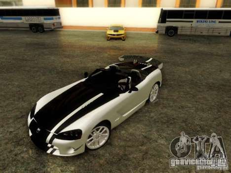 Dodge Viper SRT-10 Roadster ACR 2004 для GTA San Andreas вид изнутри