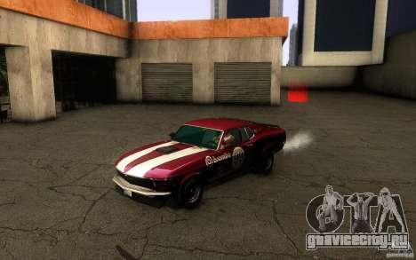 Ford Mustang Boss 302 для GTA San Andreas вид сверху