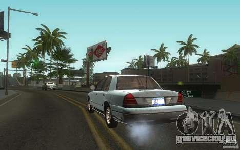 Ford Crown Victoria для GTA San Andreas вид сзади слева