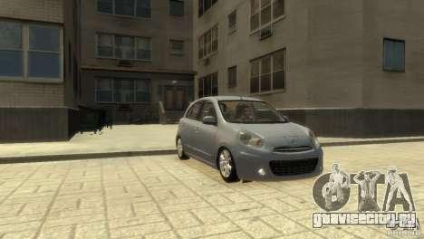 Nissan Micra для GTA 4 вид сзади слева