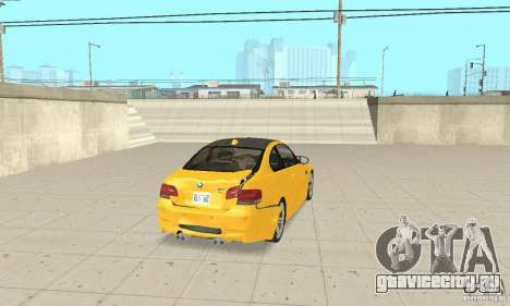 BMW M3 2008 для GTA San Andreas вид снизу