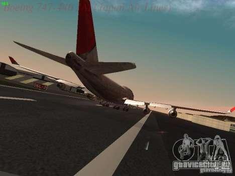 Boeing 747-446 Japan-Airlines для GTA San Andreas вид справа