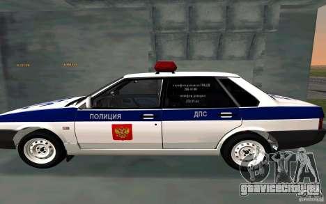 Ваз 21099 Полиция для GTA San Andreas вид слева