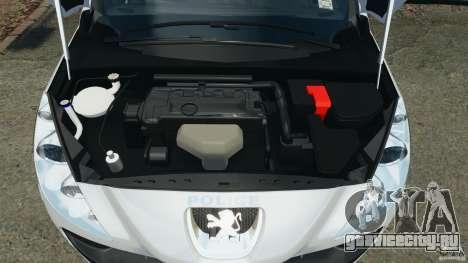 Peugeot 308 GTi 2011 Police v1.1 для GTA 4 вид сверху