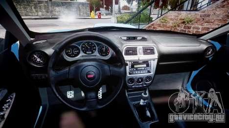 Subaru Impreza WRX STI Spec C Type RA-R 2007 для GTA 4 вид сзади