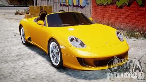 Ruf RK Spyder v0.8Beta для GTA 4 вид изнутри