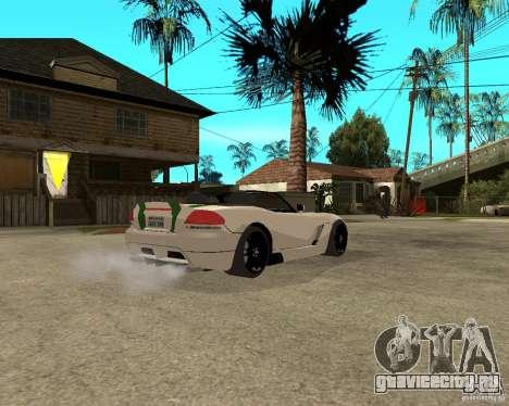 Dodge Viper SRT-10 для GTA San Andreas вид справа