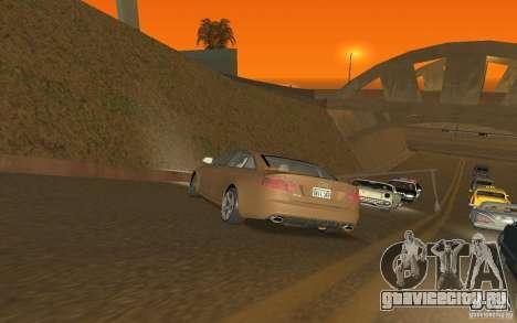 Audi RS6 TT Black Revel для GTA San Andreas вид сзади слева