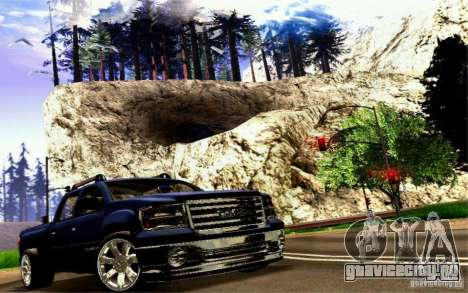 GMC Sierra 2011 для GTA San Andreas вид сзади