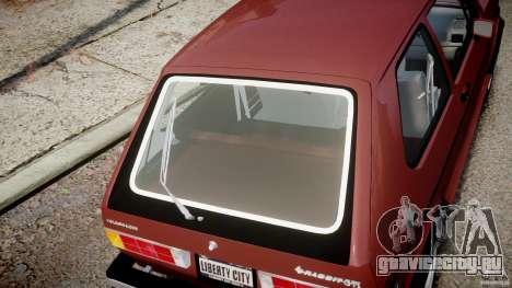 Volkswagen Rabbit 1986 для GTA 4 вид сбоку