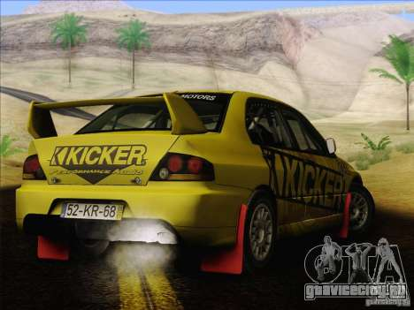 Mitsubishi Lancer Evolution IX Rally для GTA San Andreas