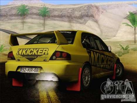 Mitsubishi Lancer Evolution IX Rally для GTA San Andreas