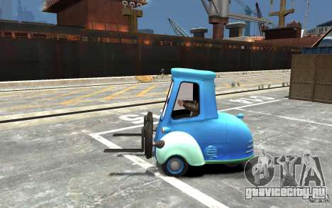 Guido из Cars Mater-National для GTA 4 вид слева
