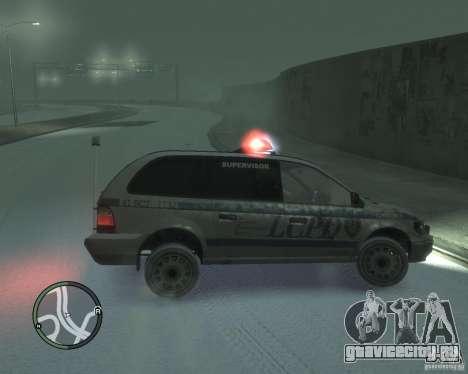 LCPD Minivan для GTA 4 вид слева