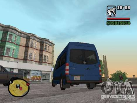 Mercedes-Benz Sprinter 2500 High Roof Passenger для GTA San Andreas вид слева