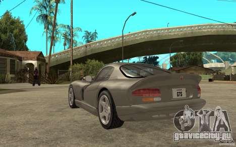 Dodge Viper GTS для GTA San Andreas вид сзади слева