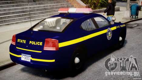 Dodge Charger NY State Trooper CHGR-V2.1M [ELS] для GTA 4 вид сверху