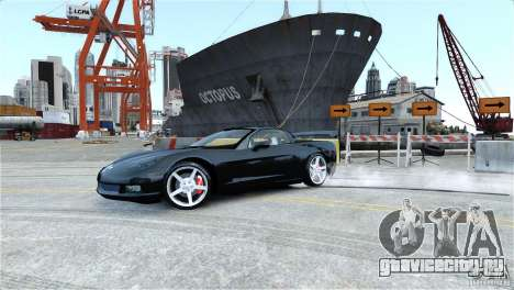 Chevrolet Corvette C6 Convertible v1.0 для GTA 4 двигатель