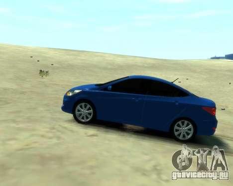 Hyundai Solaris Arab Edition для GTA 4 вид сзади слева