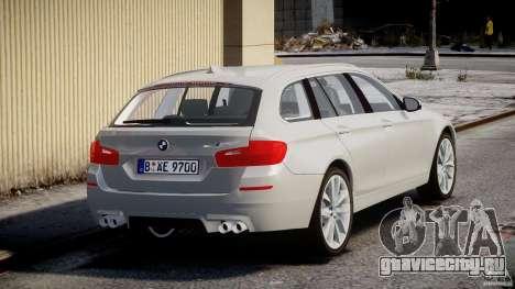 BMW M5 F11 Touring для GTA 4 вид сбоку