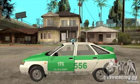 ВАЗ 2112 YPX Police для GTA San Andreas вид слева